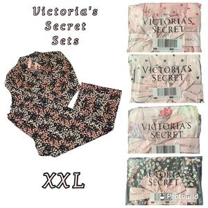 VS Long-Sleeve PJ Sets NWT